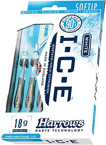 18 g Soft Tip Harrows Zero Ice-Set di freccette in tungsteno