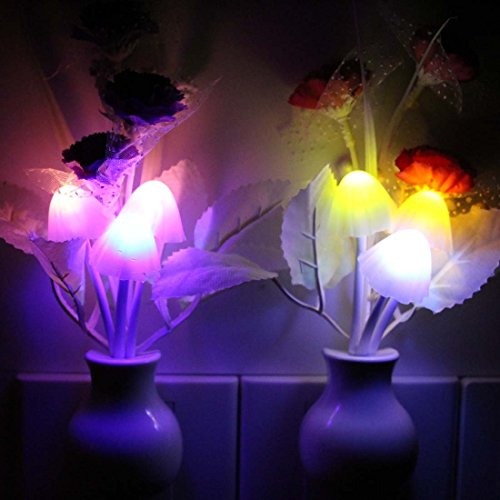 2PCS Kids Night Light , Romantic Color Changing Plug In
