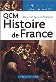 echange, troc Nathan Grigorieff - QCM Histoire de France : Du Moyen Age à la Révolution
