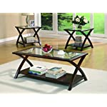 Coaster Home Furnishings 3-piece X-Leg Occasional Table Set Cappuccino