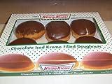 Krispy Kreme 6 Count Chocolate Iced Creme Filled Doughnuts Pack of 2 by Krispy Kreme Doughnuts