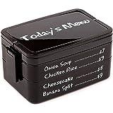 Lunch box Avec couverts Today's menu 2 compartiments Noir Balvi 25173