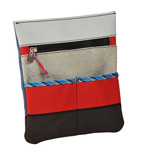 Bustina Portatutto da Cintura o Tracolla ALE L4K3 LAKE Rosso Lino Grigio