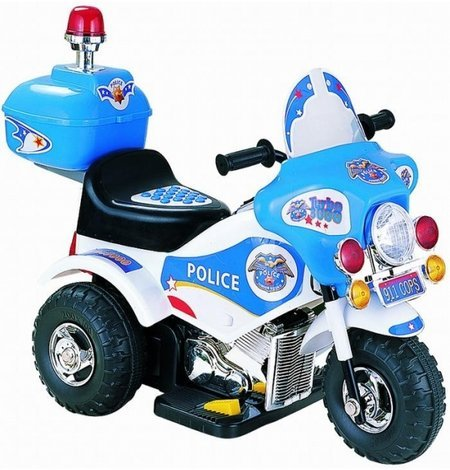 KIDS ELECTRIC Ride On Police Motorcycle 3 Wheeler HIGHYWAY ...