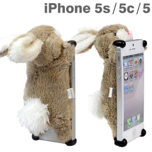 docomo au SoftBank iPhone5 iPhone5s iPhone5c 専用 simasima ZOOPY iPhone ケース カバー ジャケット (ウサギ)