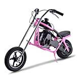 SAY YEAH Gas Scooter 49cc 2 Stroke Mini Dirt Pit Bike for Kids,Non California Compliant,Pink (Color: Pink)