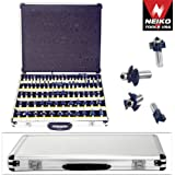 """1/2"""" Router Bit Set Tungsten Carbide 1/2""""shank w/ 3 Blades 80pc Professional Set"""