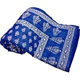 Bagru Crafts Traditional Jaipuri Hand Block Print Double Bed Jaipuri Razai - Quilt