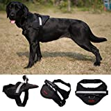 Dog Harness,Geega Pet Soft No Pull Pet Harness Vest Reflective strip Padded Dog Body Harness (L)