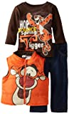 Disney Baby-boys Infant 3 Piece Tigger Vest and Pant Set, Orange, 24 Months