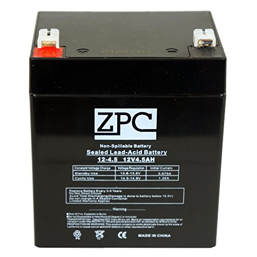 Zpc 12V 4.5Ah Sealed Lead Acid (Sla) Battery - T1 Terminals