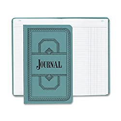 Boorum & Pease 66500J Record/account book, journal rule, 12-1/8 x 7-5/8, 500 pages