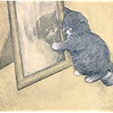 Cat playing with its reflection in a mirror, from Rubayat of a Persian Kitten, by Oliver Herford (V&A Custom Print)