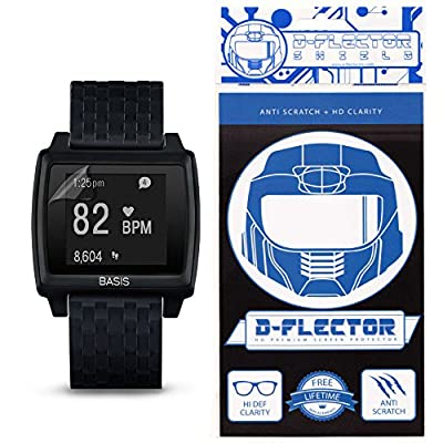 (3 PACK) DFlectorshield Screen Protector for the Basis Peak Watch with free Lifetime Replacement Program
