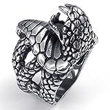 PW 高品質チタン&ステンレス コブラ指輪リンク 22500 シルバー(銀色) 【ラッピング対応】