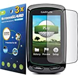 3x Garmin Approach G6 Golf GPS Premium Clear LCD Screen Protector Cover Guard Shield Protective Film Kits (Package by GUARMOR)