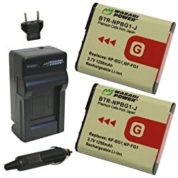 Wasabi Power Battery and Charger Kit for Sony NP-BG1 NP-FG1 and Cyber-shot DSC-H3 DSC-H7 DSC-H9 DSC-H10 DSC-H20 DSC-H50 DSC-H55 DSC-H70 DSC-H90 DSC-HX5V DSC-HX7V DSC-HX9V DSC-HX10V DSC-HX20V DSC-HX30V DSC-N1 DSC-N2 DSC-T20 DSC-T100 DSC-W30 DSC-W35 DSC-W50 DSC-W55 DSC-W70 DSC-W80 DSC-W90 DSC-W100 DSC-W120 DSC-W130 DSC-W150 DSC-W170 DSC-W200 DSC-W210 DSC-W215 DSC-W