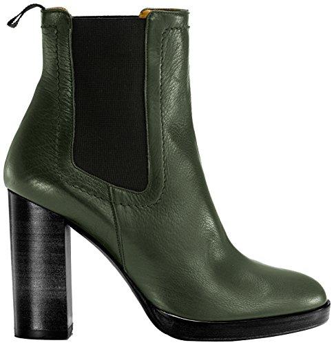 Castañer - CLAIR / baby calf, Stivali per bambini, Verde(Dark Green), 37