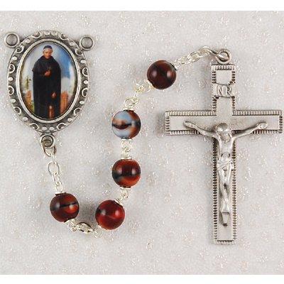 Saint Peregrine Rosary Patron Prayer Bead Catholic Christian Necklace