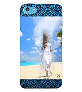 ColourCraft Girly Back Case Cover for APPLE IPHONE 5C