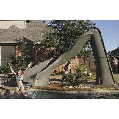 Pool Slides:Right Turbo Twister in grey Granite Images