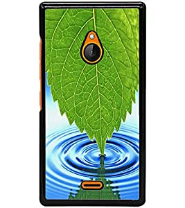 ColourCraft Leaf and Water Design Back Case Cover for NOKIA XL