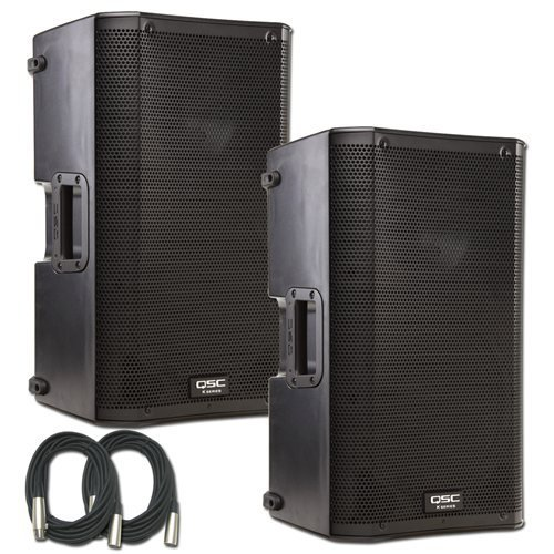 Qsc K10 Speaker Bundle W/ Cables (Pair)