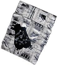 White & Black Music Gift Set: Musical Instrument Scarf, Socks & Keychain