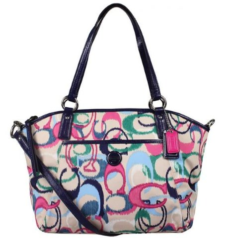 Coach   Coach 24444 Signature Ikat Print Pocket Tote Handbag Multicolor