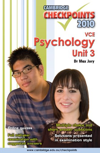 Cambridge Checkpoints VCE Psychology Unit 3 2010