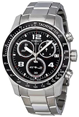 Tissot V8 Chronograph Black Dial Mens Watch T0394171105702 by Tissot