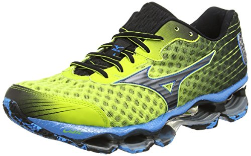 Mizuno Wave Prophecy 4, Scarpe sportive, Uomo, (Multicolor (Lime Punch/Black)), 41