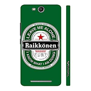 Micromax Canvas Juice 3 Q392 RAIKKONEN LEAVE ME ALONE designer mobile hard shell case by Enthopia