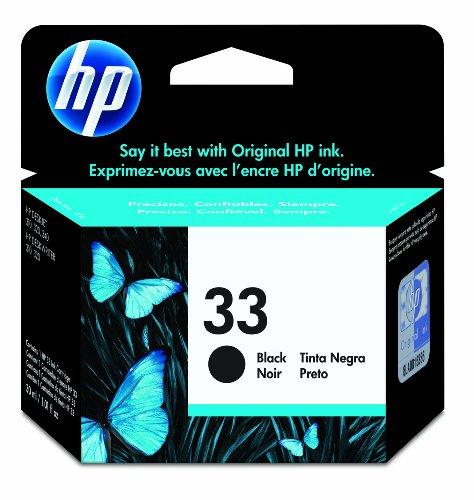 HP 33 Black Ink Cartridge in Retail Packaging