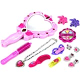 Pretty Princesses 'A' Pretend Play Toy Fashion Beauty Set W/ Assorted Hair And Beauty Accessories