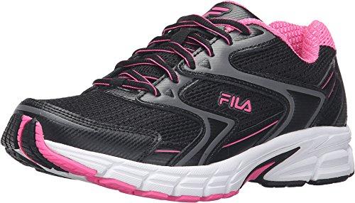 Fila Women's Xtent 3 Running Shoe, Black/Sugarplum/White, 7 M US