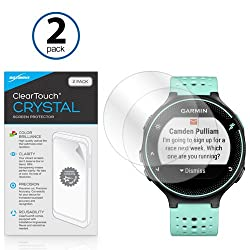 Garmin Forerunner 235 Screen Protector, BoxWave [ClearTouch Crystal (2-Pack)] HD Film Skin - Shields From Scratches for Garmin Forerunner 235