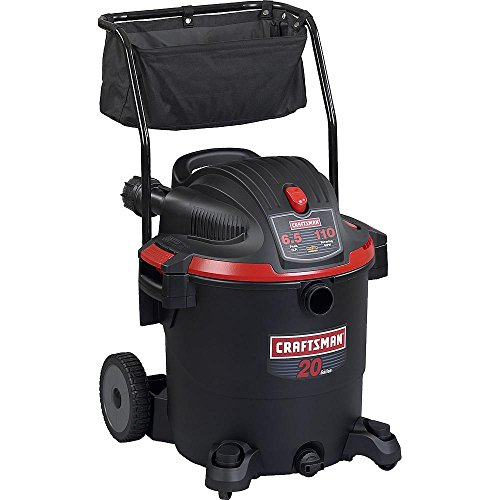 Craftsman 9-17971 Wet/Dry Vacuum with Cart, 20 gallon (Craftsman Car Shop Vac compare prices)