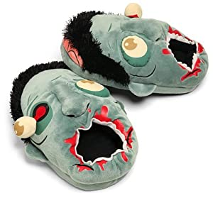 ThinkGeek - Zombie Plush Slippers (One size fits most)