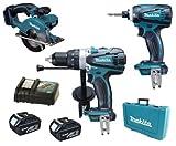 Makita 18V LXT Li Ion DK18000 Kit BHP458, BTD140 & BCS550 BCS550Z BCS550Rfe Circular Saw