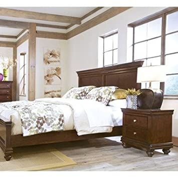 Standard Furniture Essex 2 Piece Panel Bedroom Set in Rich Dark Merlot