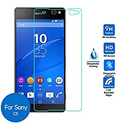 ASCARI 2.5D Round Edge Tempered Glass Screen Protector for Sony Xperia C5 Protective Film with 0.3MM HD Clear Explosion film