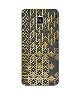 Golden Pattern Samsung Galaxy A3 Case
