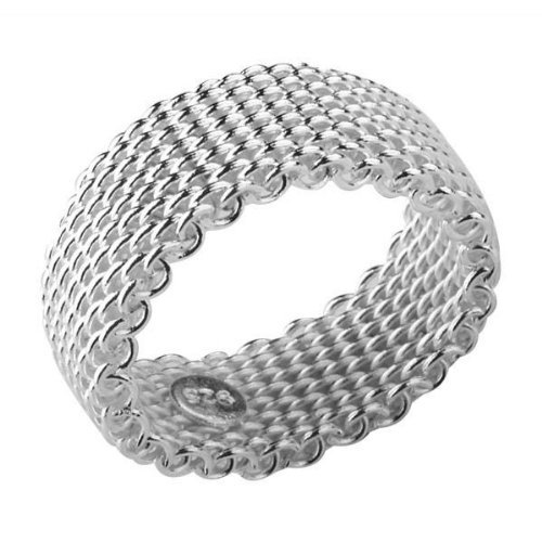 bling-womens-somerset-mesh-ring-size-o-925-sterling-silver-plated-tiffany-style-designer-inspired
