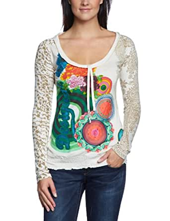 Desigual 36T2647 T-shirt  Femme  - Ecru - Elfenbein (tiza 1010) - 44