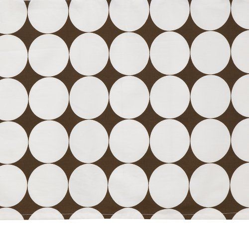 Bacati Reverse Dots Printed Crib Skirt - White/Chocolate