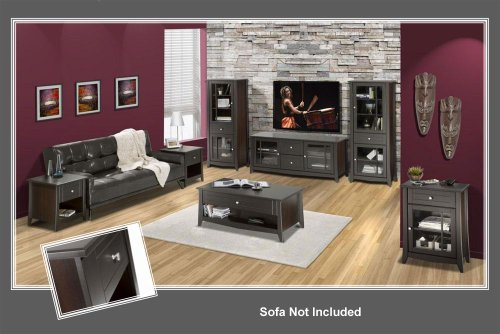 Elegance Espresso Lacquer Finish Home Entertainment Collection