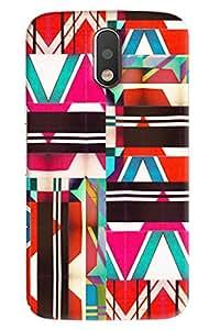 Blue Throat Colored Stripes Effect Printed Designer Back Cover/ Case For Motorola Moto G4