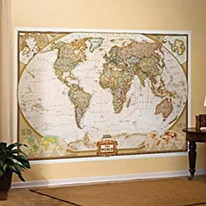 Mural World Map Map Type: Executive