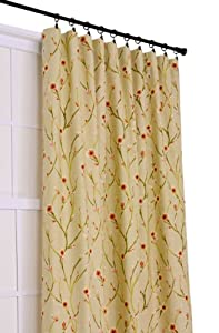 Ellis Curtain Cranwell Open Vine 50-Inch by 84-Inch 3-In-1 Tailored Panel, Natural